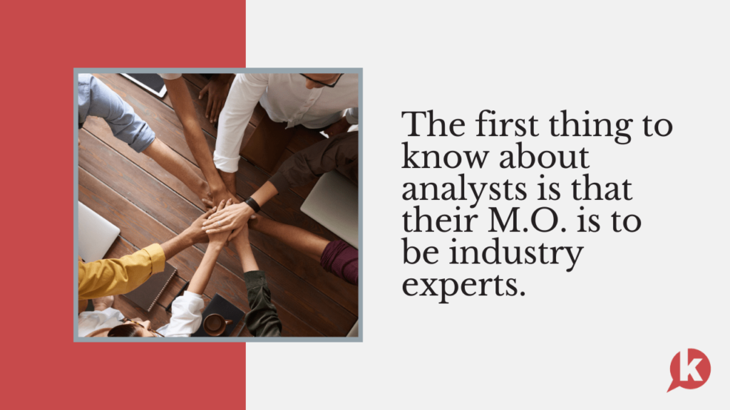 analysts are industry experts